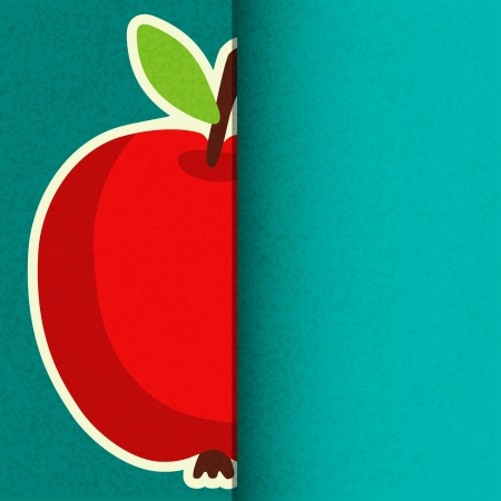 Apple background with space for text - vector Vector
