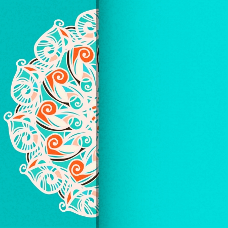 Abstract floral background with space for text - vector Stock Vector - 19035572