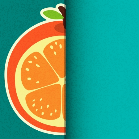 Orange background with space for text - vector Vector