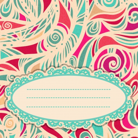 Abstract colorful background with space for text - vector Vector