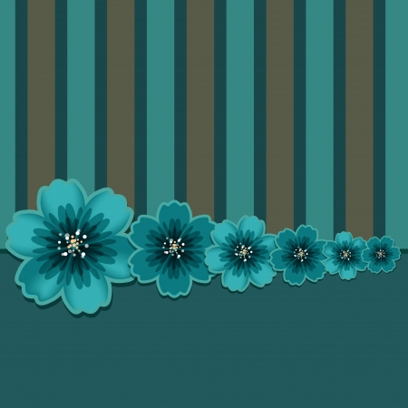 Floral background with space for text - vector Stock Vector - 19035578