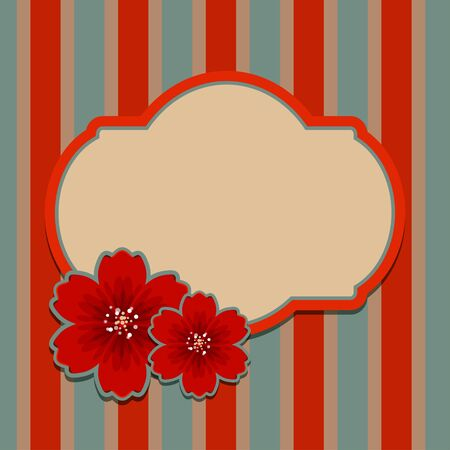 Floral background with space for text - vector Stock Vector - 19035562