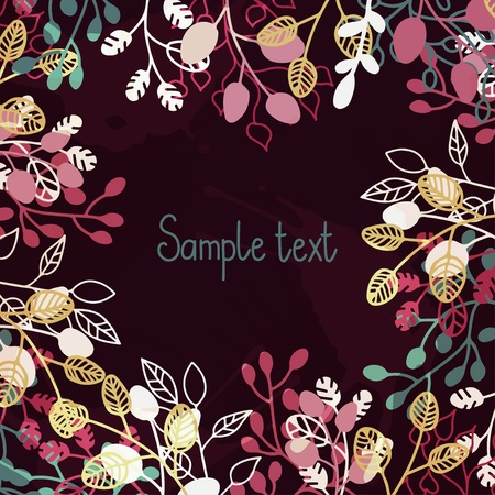 Floral background with a place for text Stock Vector - 19317436