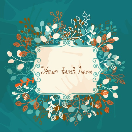 Floral background with frame and a place for text Stock Vector - 19317441