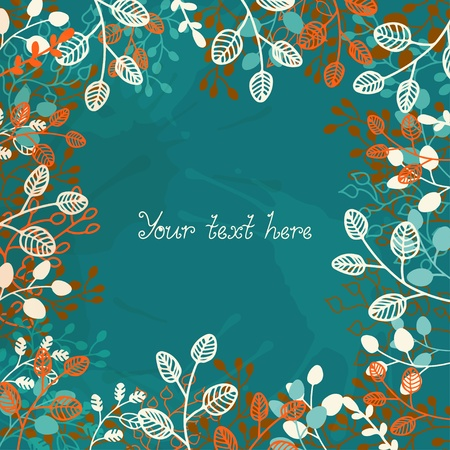 Floral background with a place for text  Vector