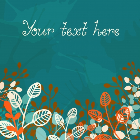 Floral background with a place for text Stock Vector - 19317425