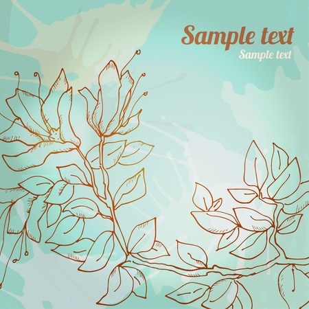Floral background with space for text - vector