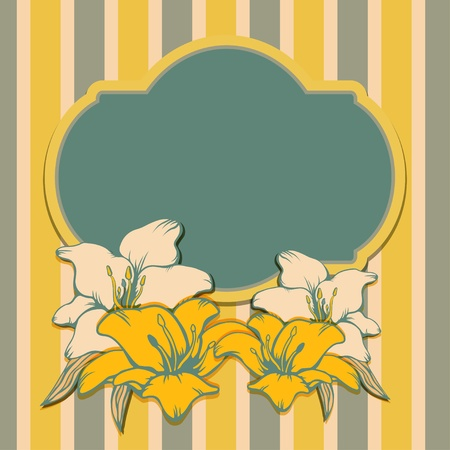 Floral background with frame for text - vector Stock Vector - 19472954