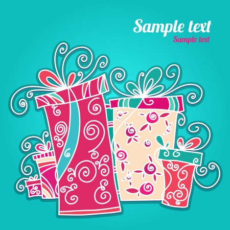 Holiday background with gifts and space for text - vector Stock Vector - 19472966