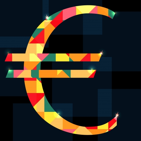 Euro sign isolated - vector Vector