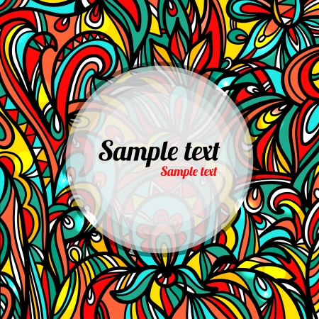 Colorful abstract background with space for text- vector Vector