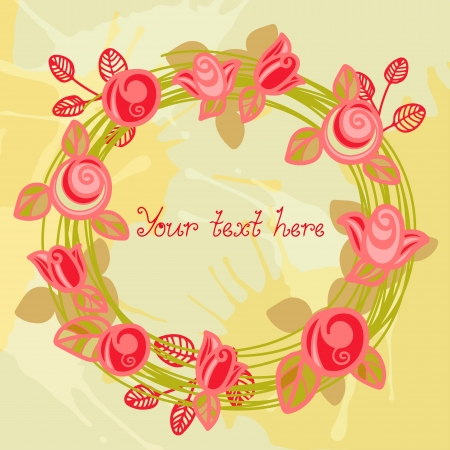 Floral frame with space for text - vector Vector