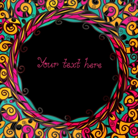 Abstract background with frame and space for text - vector  Vector
