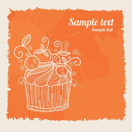 Cake background and space for text - vector  Vector