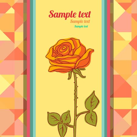 Floral background with rose and space for text - vector  Vector