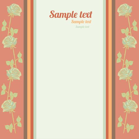 Background with roses and space for text - vector  Vector