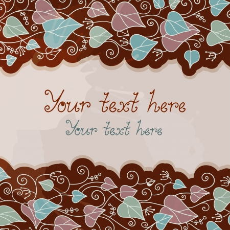 Floral background with place for text - vector Vector