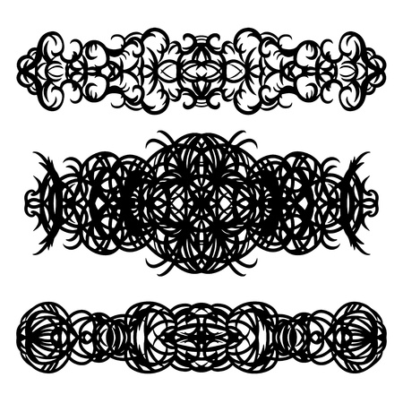 bracelet tattoo: Tattoo art designs set - vector