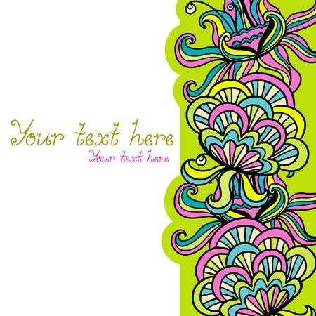 Abstract floral background with place for text - vector