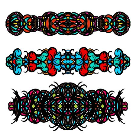 bracelet tattoo: Tattoo art designs color set - vector