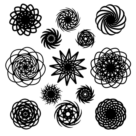 Tattoo art designs set - vector Stock Vector - 19830705
