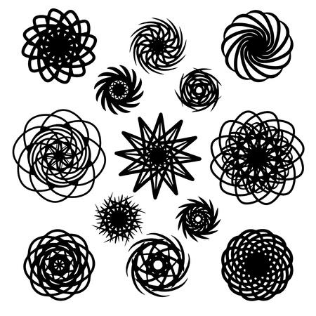 Tattoo art designs set - vector Stock Vector - 19830705