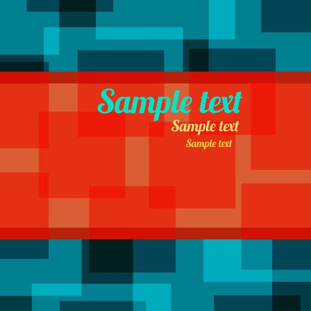 Colorful abstract geometric background with place for text - vector Vector