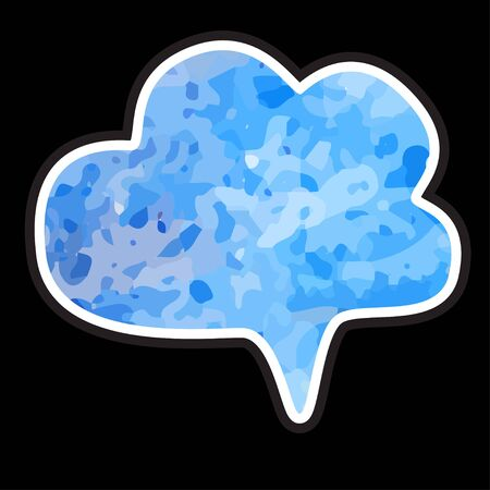 Watercolor isolated cloud with space for text - vector Vector