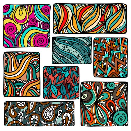 colored paper: Set of colorful backgrounds - vector