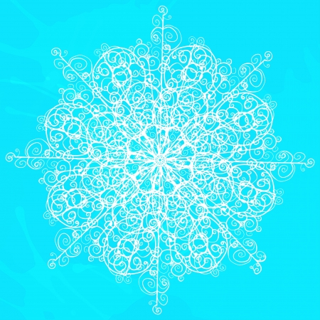 Snowflake isolated - vector  Stock Vector - 19830843