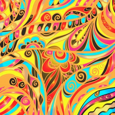 Coloré fond abstrait floral - vecteur Banque d'images - 19830847