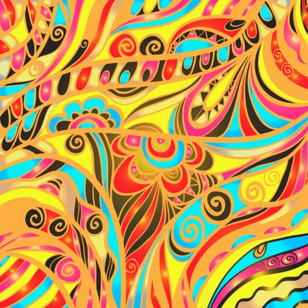 abstract paintings: Colorful abstract floral background - vector Illustration