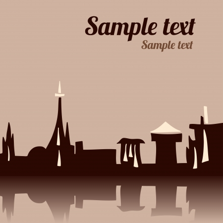 City background with space for text - vector Vector