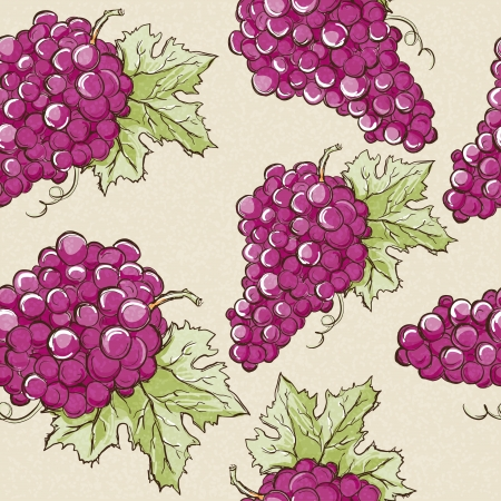 Seamless pattern with grapes - vector Vector