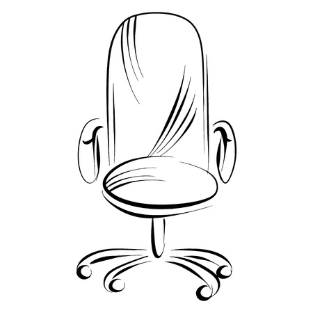 front office: Office chair sketch - vector