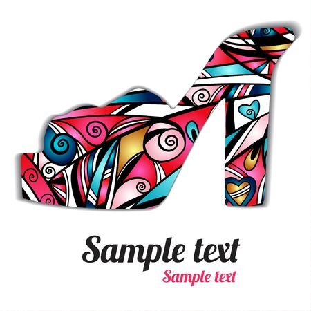 for print: Sign pattern shoes  - vector