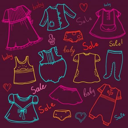 t shirt blouse: Childrens clothes sale background