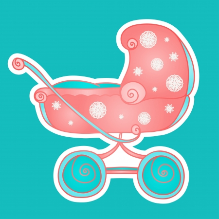 Isolated icon baby stroller   Vector