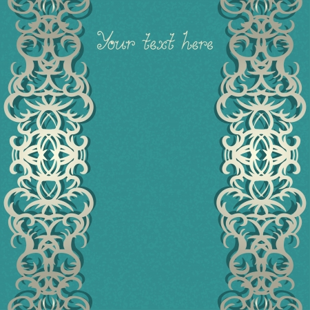Abstract background with a pattern and a text field  Vector