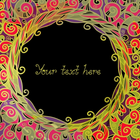 Colorful abstract background with frame and space for text Vector