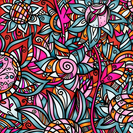 red color: Colorful abstract florals background