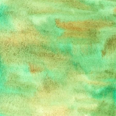 bionomics: Green watercolor background  Illustration