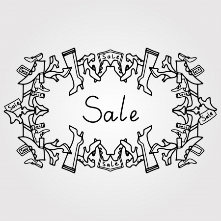 Frame shoes sale  Vector