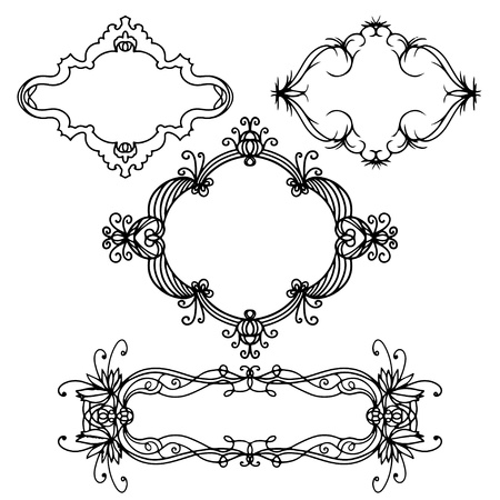 Set isolated frames - vector Stock Vector - 20596531
