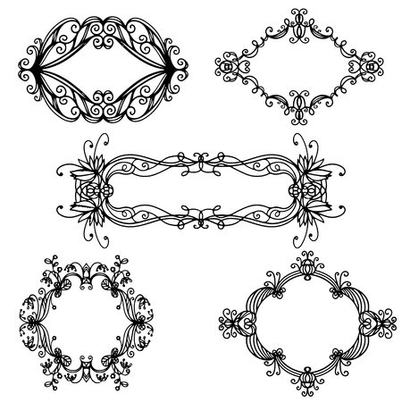 Set isolated frames Stock Vector - 20596560
