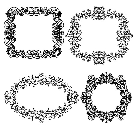 Set isolated frames Stock Vector - 20596648