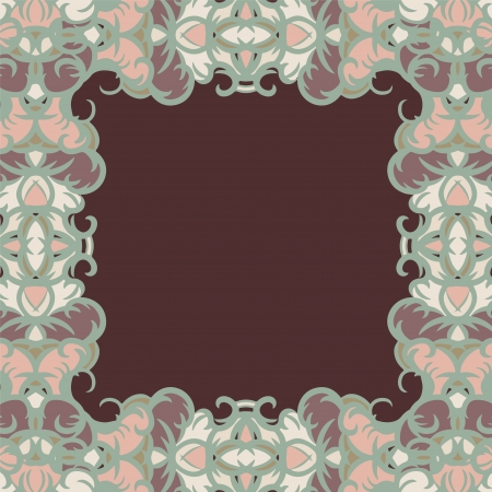 Abstract isolated floral frame Vector