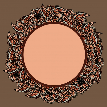 Isolated abstract floral frame - vector Vector