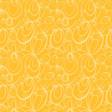 Orange seamless pattern - vector  Vector