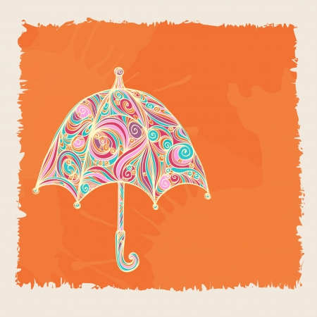 Background with icon pattern umbrella and space for text Vector
